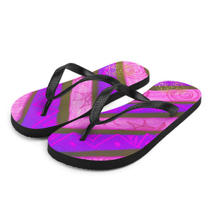 Señora Sofia Maria Collection: Unisex liliac  Flip-Flops, MADE TO ORDER