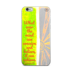 Napolean Hill Collection :iPhone Case, with a Napoleon Hill positive quote