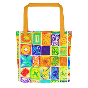 Barcelona beach bags , with mediterranean patchwork style  , designed by eldragonfly barcelona - Eldragonfly Barcelona