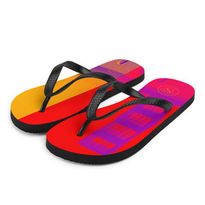 Pop art Barceloneta flip flops -red and yellow