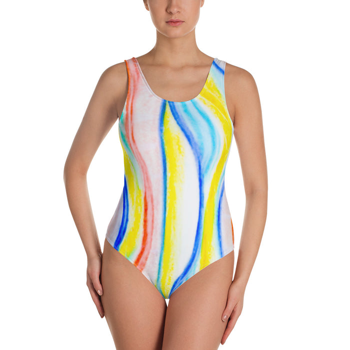 Barcelona beachstyle, Womens , one piece swim suit : Señora Catalina Collection (multi colored )