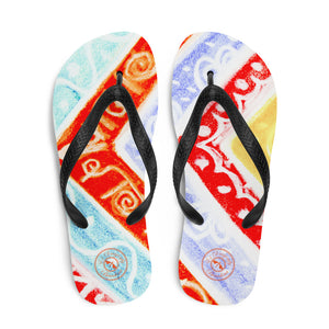Ava Collection : Barcelona beach and surf fashionsyle flipflops, with multicolurs. MADE TO ORDER - Eldragonfly Barcelona