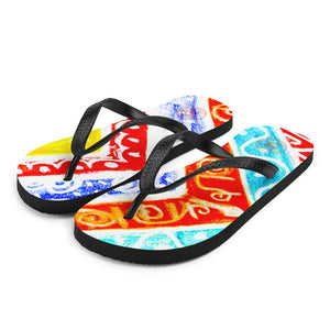 Barcelona beachstyle flipflops : Ava Collection -Numero 7 - Eldragonfly Barcelona