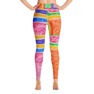 Barcelona beachstyle, Womens yoga Leggings : Señora Bonito Collection - Multi colored - Eldragonfly Barcelona