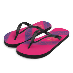 Paula Collection: Purple and fusia unisex  FlipFlops