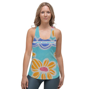 Señorita Flor Collection: Womens sports,  Tank top. MADE TO ORDER