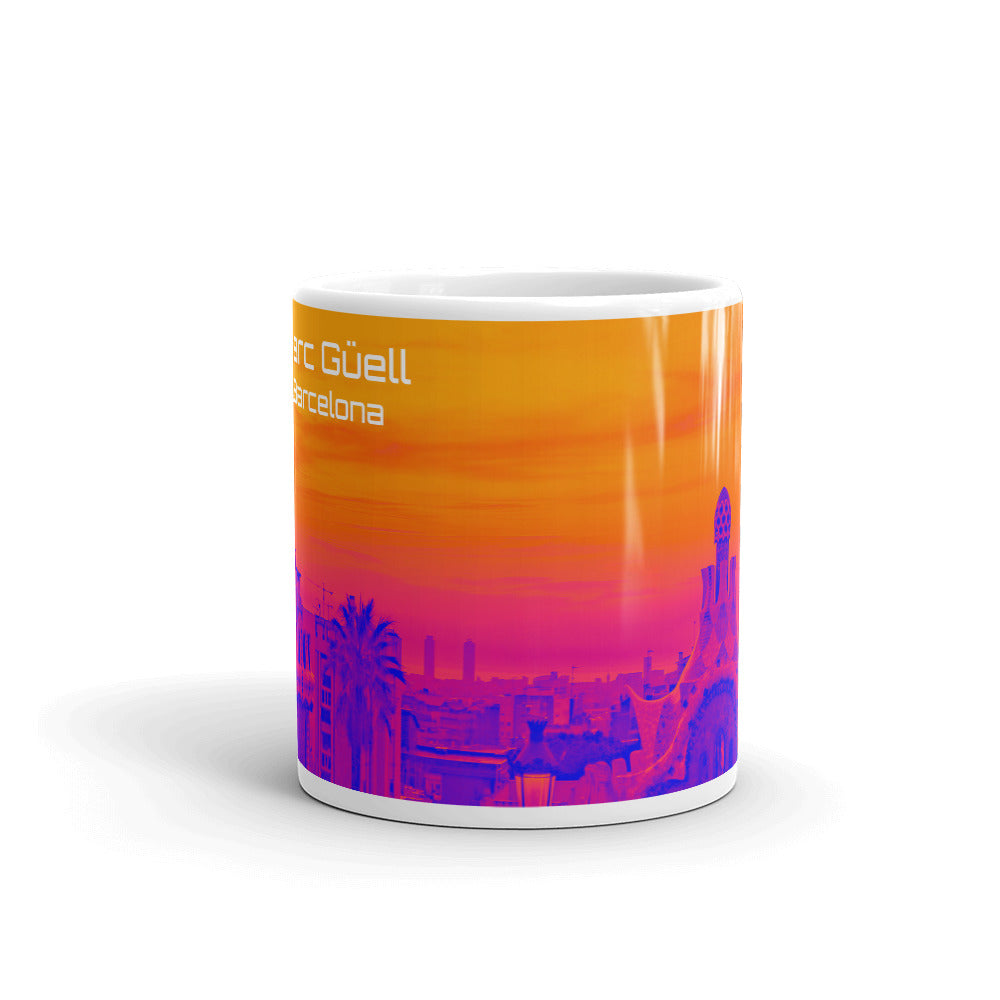 Parc Güell  Mug Collection : orange  and pink - Eldragonfly Barcelona