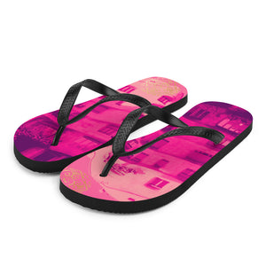 La Pedrera Collection: Beachstyle pink rubber flip flops, influenced from Gaudi, designed by Eldragonfly Barcelona