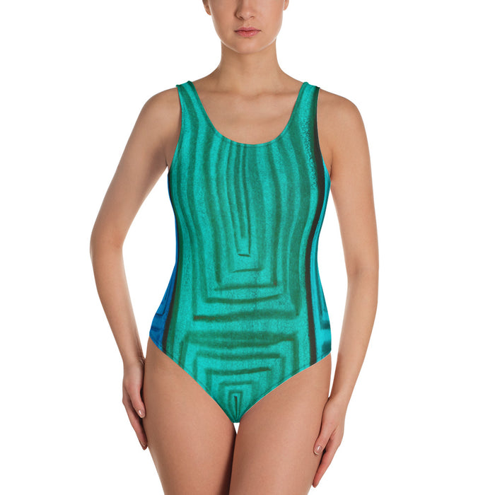 Barcelona beachstyle one-Piece Swimsuit, exclusively from Eldragonfly :Claudita  Collection