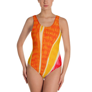 Señora  Elena Flores Collection : Beachstyle fashion all in one swim-suit. Made to order - Eldragonfly Barcelona