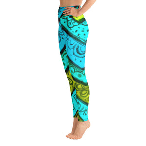 Womens yoga Leggings with an Eldragonfly Barcelona Beachstyle, very comfortable  :Anna Collection - Serpia - Eldragonfly Barcelona