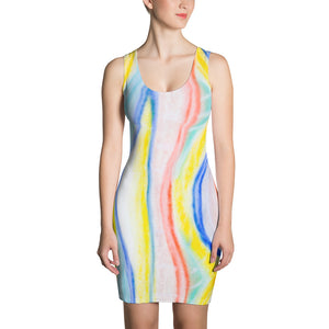 San Carla Coolection: Beachstyle dress in vibrant light colours. MADE TO ORDER