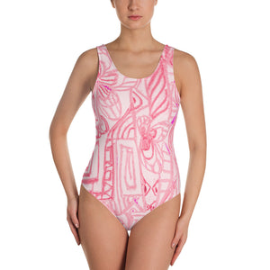Perla Collection :Barcelona beachstyle, womens pink, one piece swim suit. MADE TO ORDER - Eldragonfly Barcelona