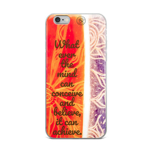 eldragonfly barcelona iphone cover , witha a Napolean hill positive quote