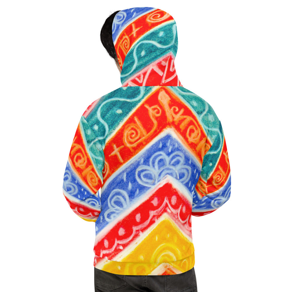 Mediteranean Tribal  Collection: Barcelona beachstyle Unisex Hoodie
