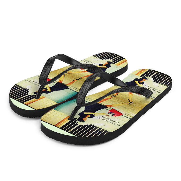 Señorita Nuria Collection: Womens Pinup Flip-Flops. MADE TO ORDER