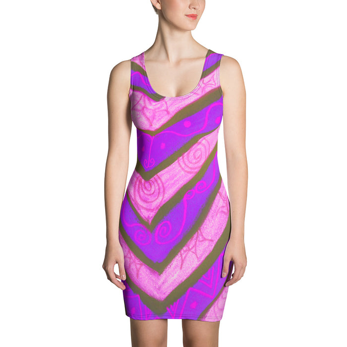San Valeria Collection: Beachstyle purple dress. MADE TO ORDER