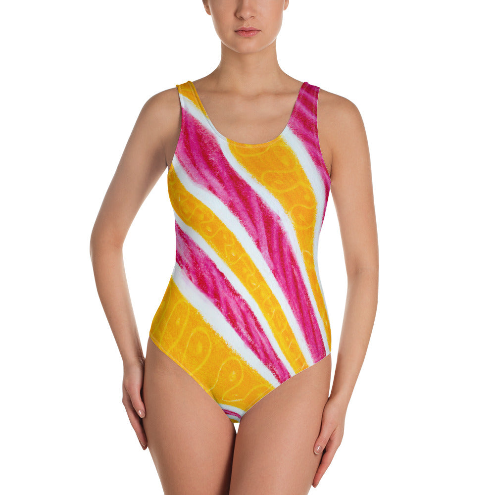 Magdalena collection :Barcelona beach, surf style swim wear, one-piece swimsuit. MADE TO ORDER - Eldragonfly Barcelona