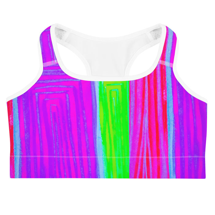 Vilanova Collection: Purple, pink and green  sports bra