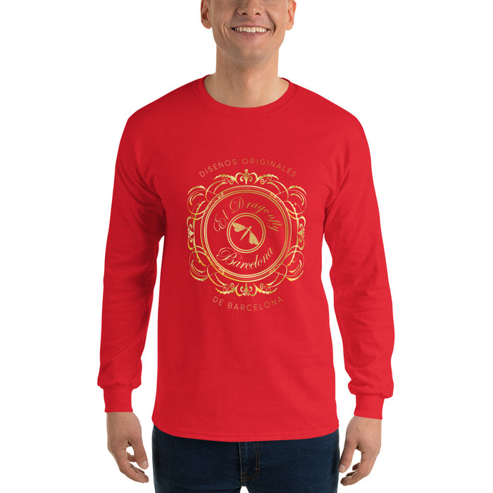 Mens long Sleeve T-Shirt, with an Eldragonfly logo : Señor Francisco Collection