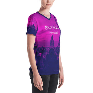 Barcelona beachstyle ,Womens  sports, top, : Parc Güell Collection- purple - Eldragonfly Barcelona