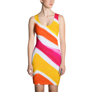 San Angel Dress: Colourful beachstyle fashion dress. MADE TO ORDER
