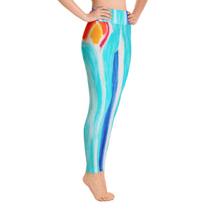 Barcelona beachfashion, womens yoga Leggings :Laura Collection - Mixed Colors - Eldragonfly Barcelona