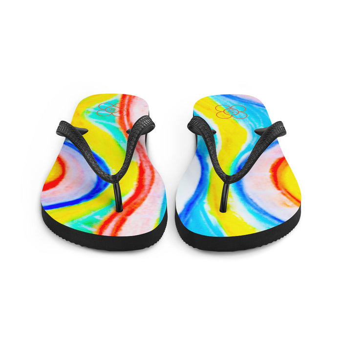 La Mar collection: flip flops  (multi-coloured ) MADE TO ORDER