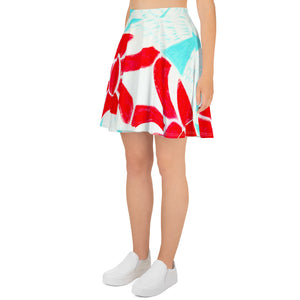 Barcelon beach style , Womens skirt, with an Eldragonfly print :   Rafaela Collection - Eldragonfly Barcelona
