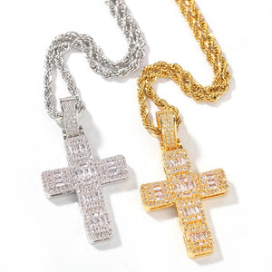 BAGUETTE CROSS NECKLACE - Bling Ting