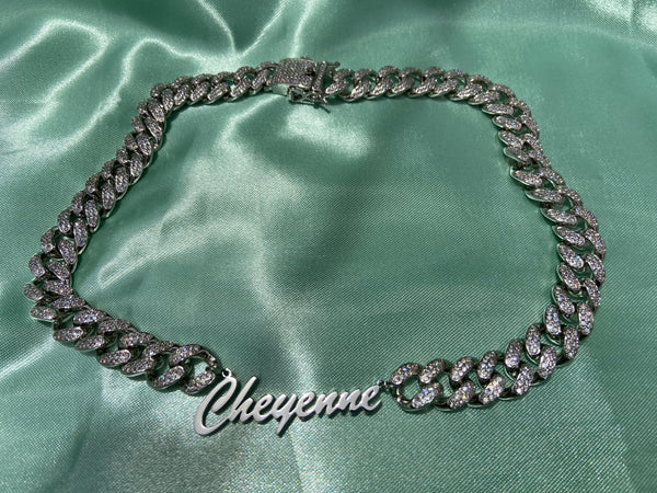ICY CUBAN LINK NAME PLATE - Bling Ting