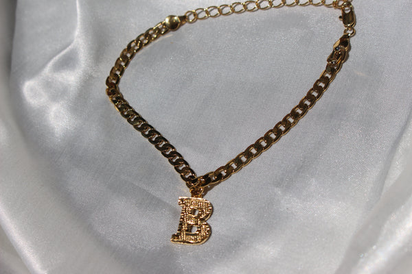 CUSTOMIZED INITIAL ANKLET - Bling Ting