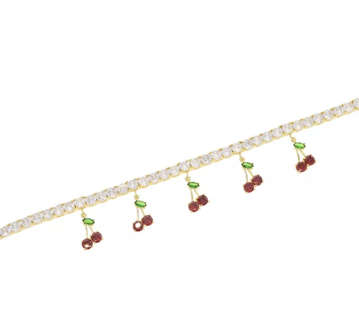 ADJUSTABLE CHERRY ANKLET - Bling Ting