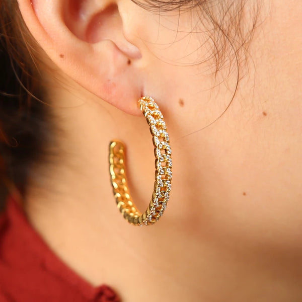 CUBAN LINK HOOPS - Bling Ting