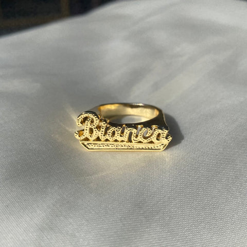 GOLD NAME RING - Bling Ting