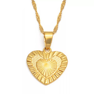 DETAILED HEART NECKLACE - Bling Ting