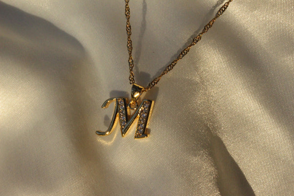 DAINTY LETTER NECKLACE - Bling Ting