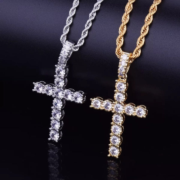 MENS ICY CROSS NECKLACE - Bling Ting