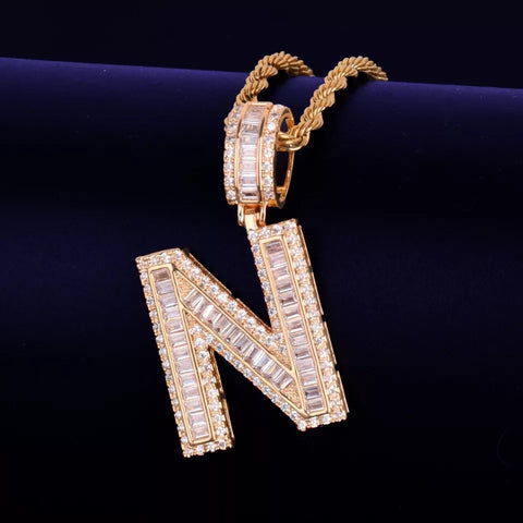 BAGUETTE LETTER NECKLACE - Bling Ting