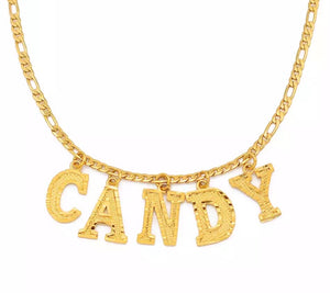 CAPITAL LETTER NAME NECKLACE - Bling Ting