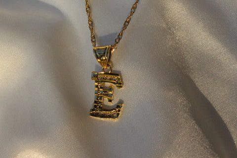 GOLD INITIAL NECKLACE - Bling Ting