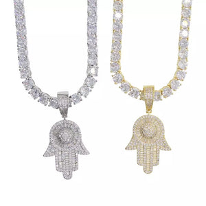 ICY HAMSA NECKLACE - Bling Ting