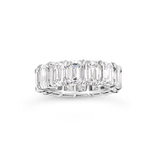 Load image into Gallery viewer, Emerald Cut Eternity Band