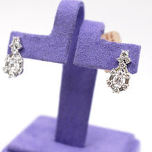 Load image into Gallery viewer, Diamond Teardrop Earrings