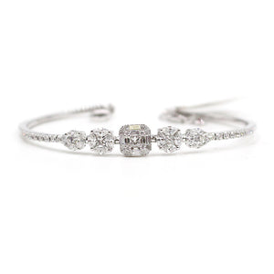White Gold Bangle & Diamonds