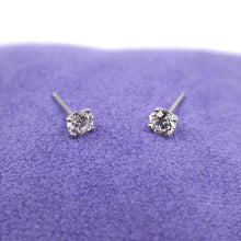 Load image into Gallery viewer, Classic Diamond Stud & White Gold Earrings