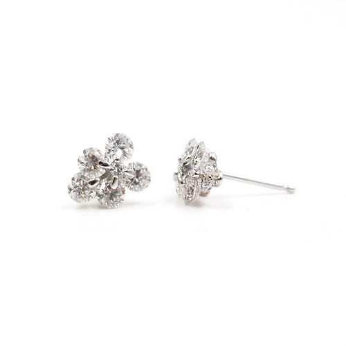 Diamond Clusters & White Gold Earrings