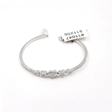 Load image into Gallery viewer, White Gold Bangle & Diamonds