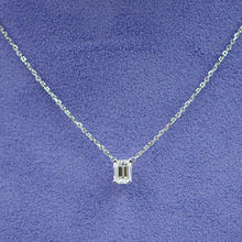Load image into Gallery viewer, Emerald Cut Solitaire Necklace