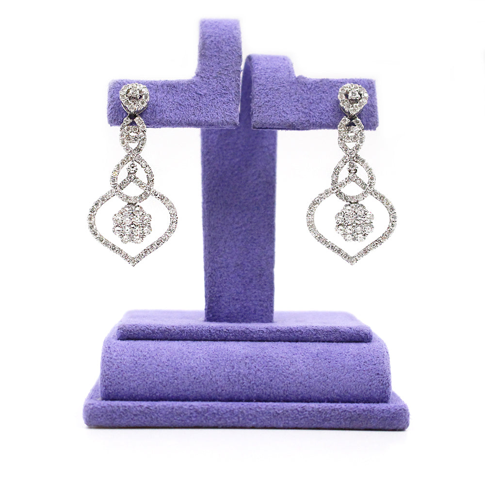 Woven Diamonds Drop Earrings